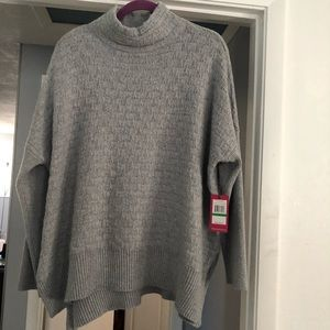 Vince Camuto pullover sweater high neck in Gray